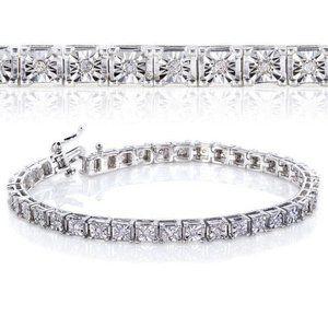 3.75 Carats round diamonds ladies tennis bracelet